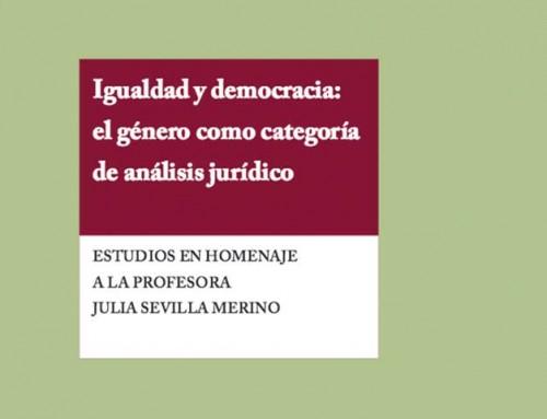 Igualdad y democracia: el género como categoría de análisis jurídico