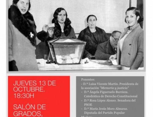 Jornada 'La mujer y la política' (Universidad de Salamanca)