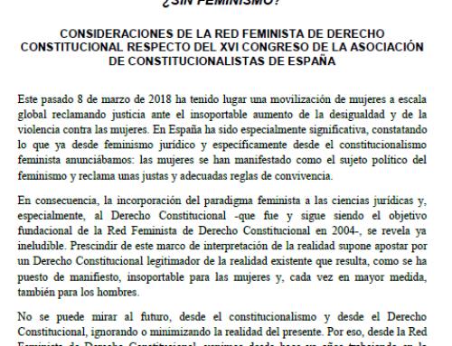 """""""40 años de Constitución: una mirada al futuro … ¿sin feminismo?"""""""