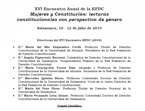 XVI Encuentro de la Red Feminista de Derecho Constitucional (Salamanca, julio 2019)